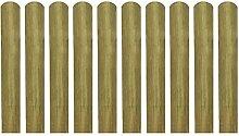 vidaXL 10x Zaunlatte Holz Zaunlatten Gartenzaun Zaunbrett Balkonbrett imprägniert 60cm