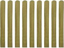 vidaXL 10xZaunlatte Holz Zaunlatten Gartenzaun Zaunbrett Balkonbrett imprägniert 100cm