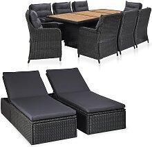 vidaXL 11-tlg. Garten-Lounge-Set Poly Rattan