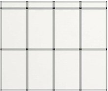 vidaXL 12-Panel Messewand Faltdisplay Stellwand