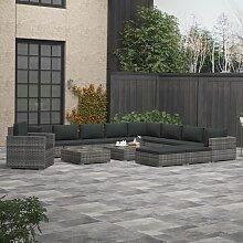 vidaXL 13-tlg. Garten-Lounge-Set mit Polstern Poly