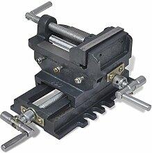 vidaXL 2 Achsen Maschinenschraubstock Kreuztisch handbetrieben