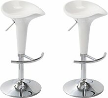 vidaXL 2 DESIGN Bar Stuhl Drehstuhl Barhocker LOUNGE Hocker Küche Barstühle Weiß