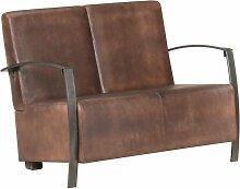 Vidaxl - 2-Sitzer-Sofa Braun Echtleder