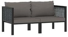 vidaXL 2-Sitzer-Sofa mit Auflage Anthrazit Poly