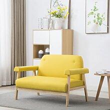 vidaXL 2-Sitzer-Sofa Stoff Gelb