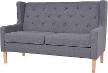 vidaXL 2-Sitzer-Sofa Stoff Grau
