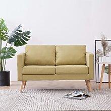 vidaXL 2-Sitzer-Sofa Stoff Grün