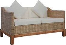 vidaXL 2-Sitzer vidaXL 2-Sitzer-Sofa mit Auflagen