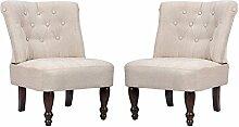 vidaXL 2 Stück Paar Sessel, creme gefasstenerbreiter Sessel französischen Stil