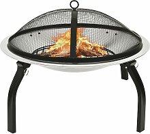 vidaXL 2in1 Feuerschale und Grill mit Schürhaken
