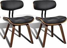 vidaXL 2x Esszimmer Stuhl Sessel Esszimmerstühle Holzrahmen Sofa Rückenlehne