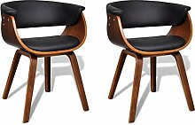 vidaXL 2x Esszimmer Stuhl Sessel Esszimmerstühle Holzrahmen Sofa Beistellstuhl