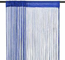 vidaXL 2X Fadenvorhang 100x250cm Blau Fadengardine