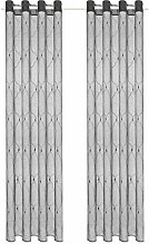 vidaXL 2X Gardine Bestickt 140x175cm Grau Vorhang