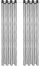 vidaXL 2X Gardine Bestickt 140x245cm Grau Vorhang