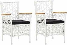 vidaXL 2X Gartenstuhl mit Auflagen Sessel Stuhl