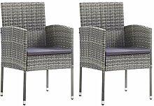 vidaXL 2X Gartenstuhl Sessel Stuhl Stühle