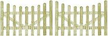 vidaXL 2x Holz Imprägniert Gartentor 150x100cm