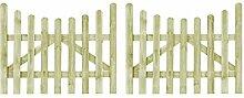 vidaXL 2x Holz Imprägniert Gartentor 150x120cm