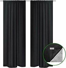vidaXL 2X Vorhang 140x245 cm Verdunkelung Blackout