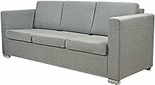 vidaXL 3-Sitzer Polstersofa Stoffsofa Loungesofa Couch Lounge Sitzmöbel Hellgrau