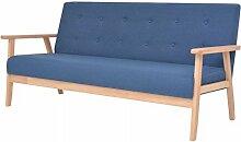 vidaXL 3-Sitzer Sofa Stoff Dunkelgrau Polstersofa