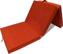 vidaXL 3-teilige Klappmatratze 190×70×9 cm Orange