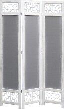 vidaXL 3-teiliger Raumteiler Grau 105 x 165 cm