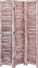 vidaXL 3-tlg. Raumteiler Braun 105×165 cm Holz