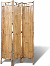 vidaXL 3Fach Bambus Raumteiler Paravent Trennwand