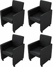 vidaXL 4 Cocktailsessel Sessel Stuhlgruppe Sitzgruppe Esszimmerstühle Stühle NEU Stuhl