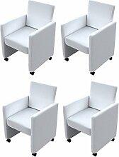 vidaXL 4 NEU Cocktailsessel Sessel Stuhlgruppe Sitzgruppe Esszimmerstühle Stühle Stuhl