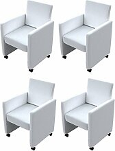 vidaXL 4 NEU Cocktailsessel Sessel Stuhlgruppe Sitzgruppe Esszimmerstühle Stuhl