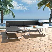 vidaXL 4-tlg. Garten-Lounge-Set mit Auflagen