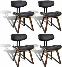 vidaXL 4x Esszimmer Stuhl Sessel Esszimmerstühle Holzrahmen Sofa Rückenlehne