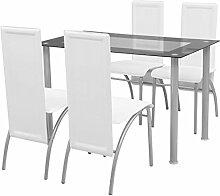 vidaXL 5tlg. Essgruppe Sitzgruppe Küchenstuhl