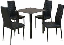 vidaXL 5tlg. Sitzgruppe Essgruppe Tischset