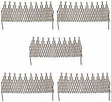 vidaXL 5x Beeteinfassung Weide Zaun Beetumrandung Gartenzaun Abgrenzung 170x55cm