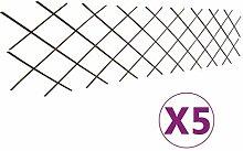 vidaXL 5X Rankgitter Erweiterbar Rankhilfe Gitter