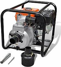 vidaXL 6,5 PS Benzin Schmutzpumpe Wasserpumpe Gartenpumpe Kreiselpumpe Teichpumpe