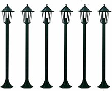 vidaXL 6 Aluguß Kandelaber Garten Laterne Aussenleuchte Gartenleuchte Lampe