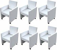 vidaXL 6 NEU Cocktailsessel Sessel Stuhlgruppe Sitzgruppe Esszimmerstühle Stuhl Stühle