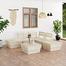 vidaXL 6-tlg. Garten-Paletten-Lounge-Set