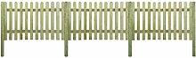 vidaXL 6m Friesenzaun Gartenzaun Holz Zaun mit Pfosten 120cm hoch Lattenzaun Zierzaun
