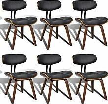 vidaXL 6x Esszimmer Stuhl Sessel Esszimmerstühle Holzrahmen Sofa Rückenlehne