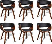 vidaXL 6x Esszimmer Stuhl Sessel Esszimmerstühle Holzrahmen Sofa Beistellstuhl