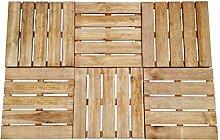 vidaXL 6x Holz Terrassenfliesen Braun 50x50cm