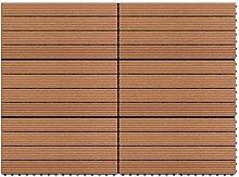 vidaXL 6x WPC Fliesen Terrassenfliesen Holzfliese
