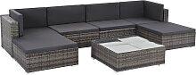vidaXL 7-tlg. Garten-Lounge-Set mit Auflagen Poly